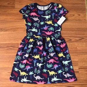 Brand New Carter's Dinosaur dress Girls 7